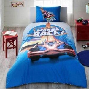 Детское подростковое постельное белье ТМ TAC Disney Hot Wheels Race 160×220