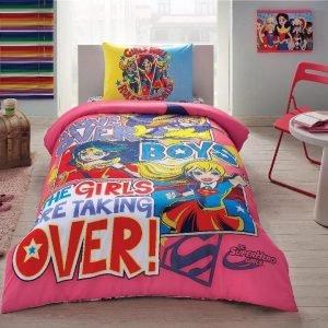 Детское подростковое постельное белье ТМ TAC Disney Super Hero Girls 160×220