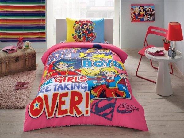 купить Детское подростковое постельное белье ТМ TAC Disney Super Hero Girls Детское