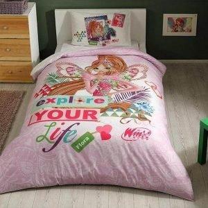 Детское подростковое постельное белье ТМ TAC Winx Flora Fairytale 160×220