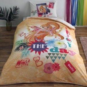 Детское подростковое постельное белье ТМ TAC Winx Stella Fairytale 160×220