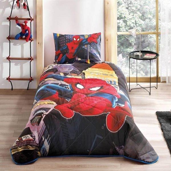 купить Детское покрывало ТМ TAC Disney Spiderman In City Полуторное