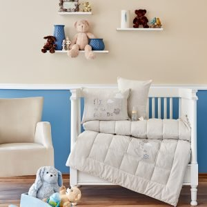 Детское постельное белье в кроватку для младенцев Karaca Home — Cloudy 2018-2 bej (4 предмета) 100×150