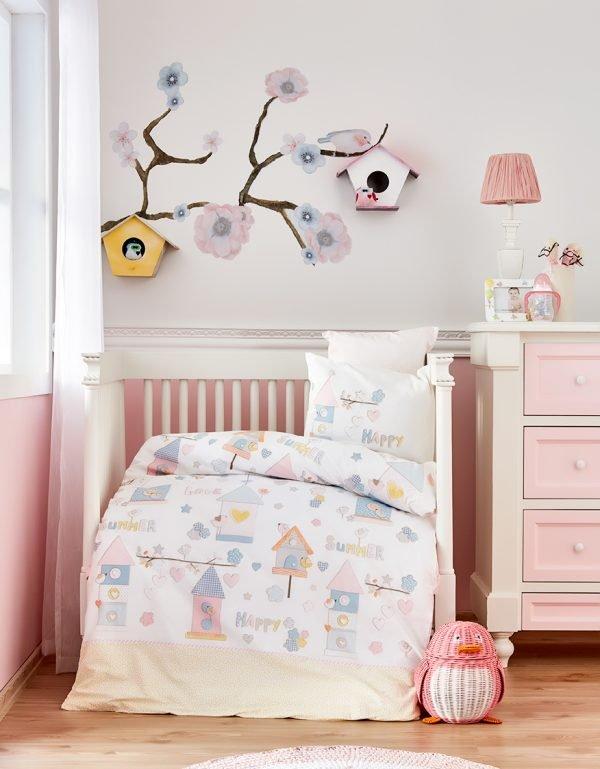 Детское постельное белье в кроватку для младенцев Karaca Home – Happy 2019-2 (10 предметов) 100×150