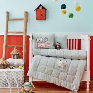 Детское постельное белье в кроватку для младенцев Karaca Home — Pancake 2018-2 su yesil (4 предмета) 100×150