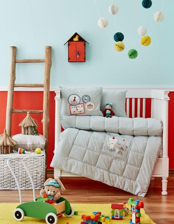 купить Детское постельное белье в кроватку для младенцев Karaca Home - Pancake 2018-2 su yesil (4 предмета) Детское