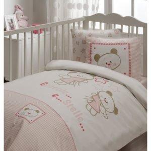 Детское постельное белье в кроватку для младенцев Karaca Home — Stella (7 предметов) 100×170