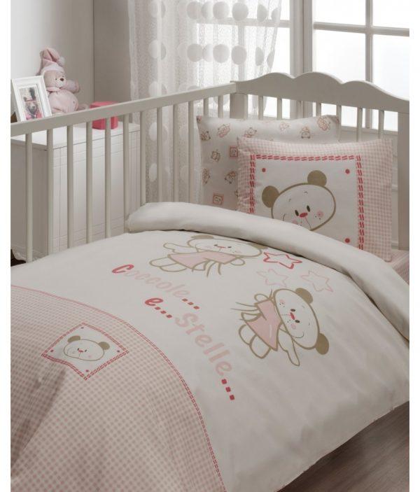 Детское постельное белье в кроватку для младенцев Karaca Home – Stella (7 предметов) 100×170
