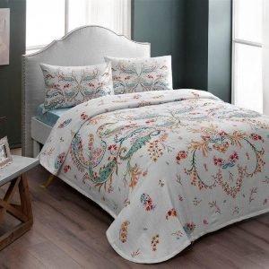 Летнее постельное белье с Пике ТМ TAC Freja Torquoise 200×230