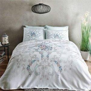 Летнее постельное белье с Пике ТМ TAC Yasmin Mint 200×230