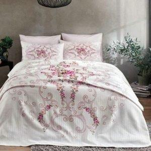 Летнее постельное белье с Пике ТМ TAC Yasmin Pink 200×230