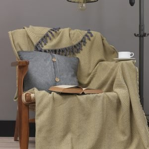 Плед Eponj Home – Iplik Sari-Gri 200×240