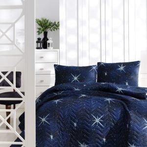 Покрывало стеганное с наволочками Eponj Home — MegaStar lacivert