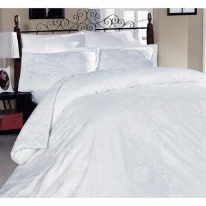 Постельное белье ТМ Altinbasak Sehrazat white Сатин 200×220