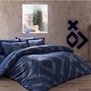 Постельное белье ТМ TAC Bellamy Blue Сатин Delux 200×220