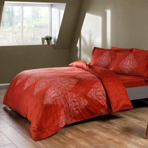 купить Постельное белье ТМ TAC Caledon red Сатин-Digital