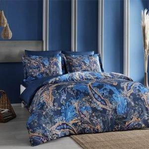 купить Постельное белье ТМ TAC Marisol Blue Сатин-Digital Евро комплект|Двуспальное