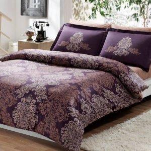 Постельное белье ТМ TAC Pavona Purple Сатин Delux 160×220 (2 шт)
