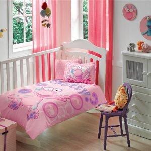 Постельное белье для новорожденных ТМ TAC Wotwots Baby Girl Pembe 100×150