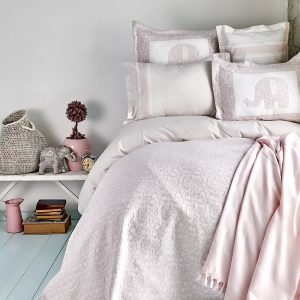 Постельное белье с покрывалом и Пике Karaca Home — Zilonis pudra 2019-2 200×220