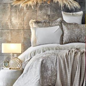 Постельное белье с покрывалом и пледом Karaca Home – Ennea gold 2019-2 200×220