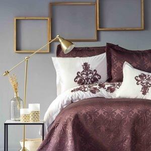 Постельное белье с покрывалом Karaca Home — Diana bordo 2019-2 200×220