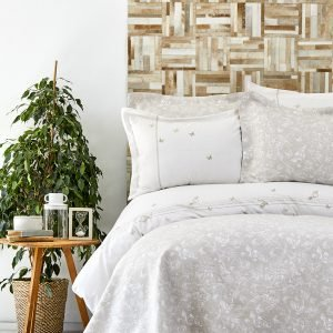 купить Постельное белье с покрывалом Karaca Home - Mariposa gold 2019-1 Евро комплект|Двуспальное