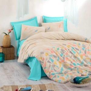 Постельное белье Eponj Home – Origami Somon ранфорс 200×220