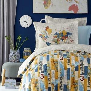 Постельное белье Karaca Home — Farte mavi 2019-2 ранфорс 160×220