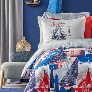 Постельное белье Karaca Home — Hutson mavi 2019-2 ранфорс 160×220