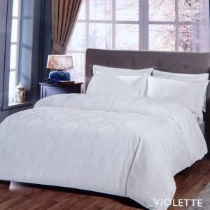 Постельное белье TAC жаккард – Violette beyaz 200×220
