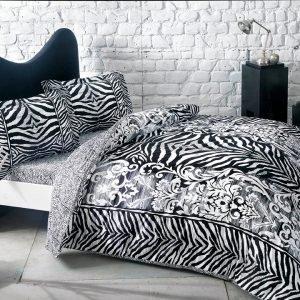 Постельное белье TAC сатин – Jovi siyah v01 200×220