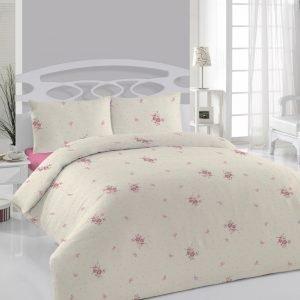 купить Постельное белье Weekend - Cordella розовое ранфорс Евро комплект|Двуспальное
