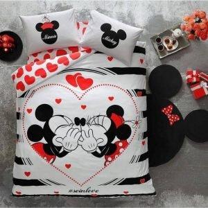 купить Светящееся постельное белье ТМ TAC Disney M&M Amour Fluorescent Двуспальное|Евро комплект