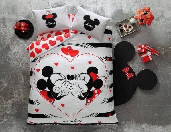 купить Светящееся постельное белье ТМ TAC Disney M&M Amour Fluorescent Двуспальное Евро комплект