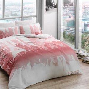 купить Светящееся постельное белье ТМ TAC Glow Paris Сатин Fluorescent Двуспальное|Евро комплект