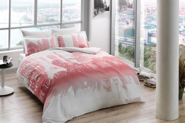 купить Светящееся постельное белье ТМ TAC Glow Paris Сатин Fluorescent Двуспальное Евро комплект