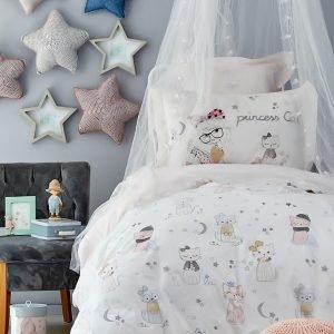 купить Постельное белье Karaca Home - Mila pudra 2019-2 ранфорс Полуторное