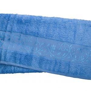 Махровое полотенце ТМ Hanibaba бамбук голубой