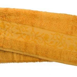 Махровое полотенце ТМ Hanibaba бамбук золото