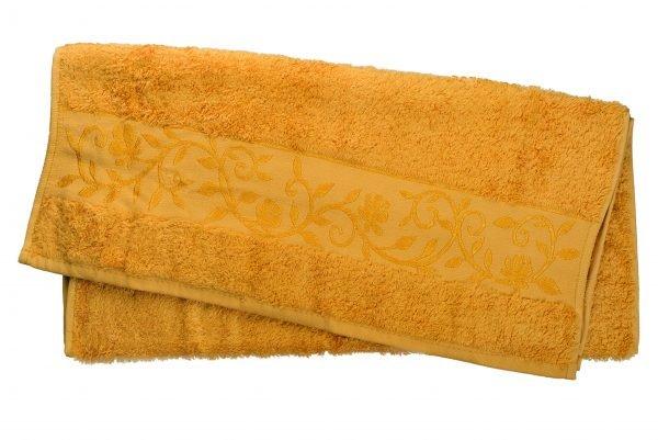 купить Махровое полотенце ТМ Hanibaba бамбук золото