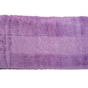 купить Махровое полотенце ТМ Hanibaba бамбук лиловый