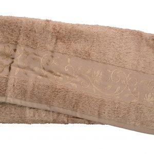 Махровое полотенце ТМ Hanibaba бамбук светло-бежевый