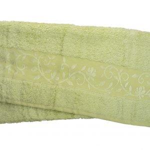 Махровое полотенце ТМ Hanibaba бамбук светло-салатовый