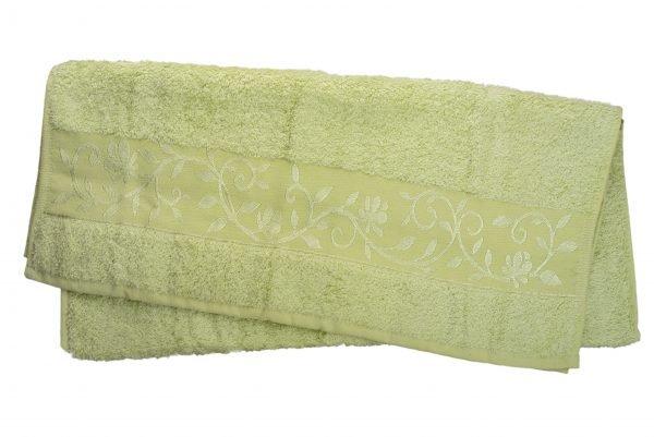 купить Махровое полотенце ТМ Hanibaba бамбук светло-салатовый