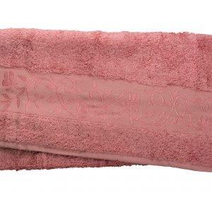 Махровое полотенце ТМ Hanibaba бамбук сиреневый