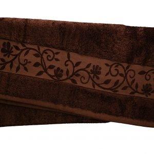 Махровое полотенце ТМ Hanibaba бамбук темно-коричневый