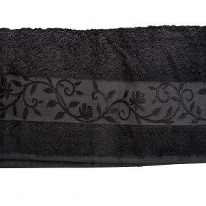 Махровое полотенце ТМ Hanibaba бамбук темно-серый