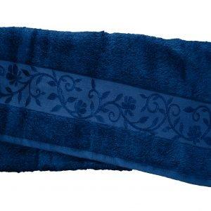Махровое полотенце ТМ Hanibaba бамбук темно-синий