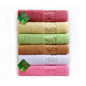 купить Набор из 6-ти махровых полотенец ТМ Hanibaba бамбук bamboo samarsik